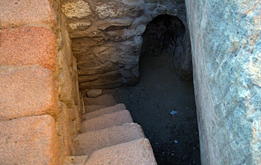 Cave where Moses fasted for 40 days, Mount Sinai, Jebel Musa, also Elijah's cave, 1