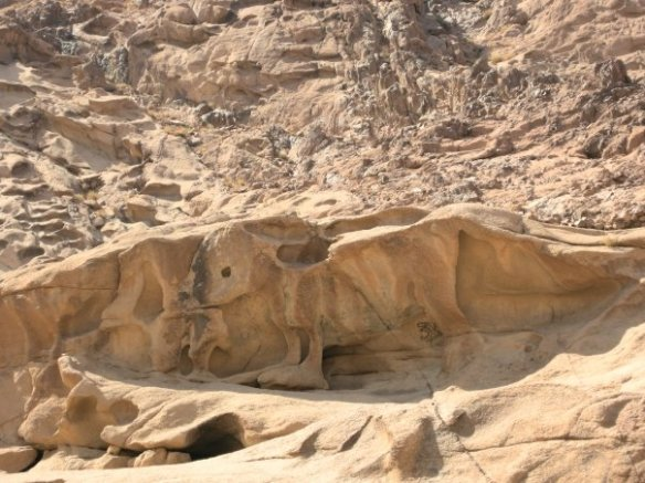 golden calf mould at jebel musa