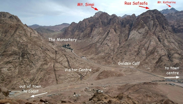Jebel Musa, Ras Safsafa, and Mount Katharina