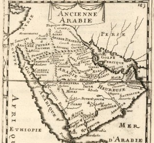 Paran, 16th century French map, Bible archaeology